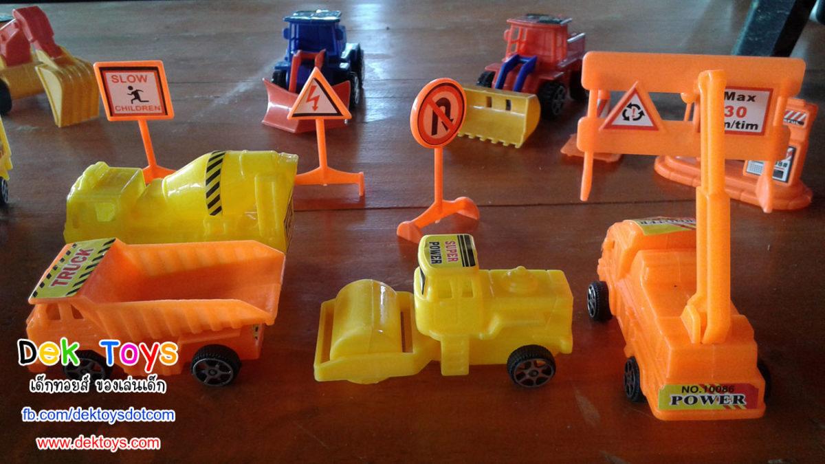 รถก่อสร้างของเล่น รถดั้ม รถเครน รถเทรลเลอร์