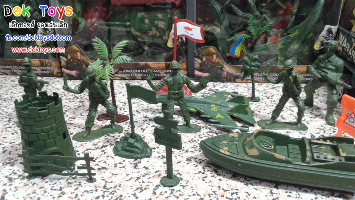 แกะกล่องของเล่นทหาร ของเล่นเด็กชาย มีหุ่นทหาร เครื่องบินรบ เรือทหาร ฯลฯ