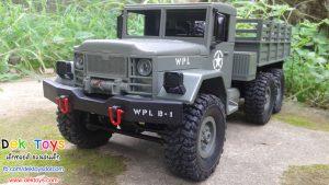 รถบรรทุกทหารบังคับวิทยุ ขับเคลื่อน 6 ล้อ สีเขียว